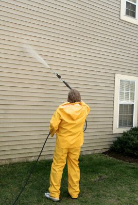 Pressure washing in Wilton Manors, FL by Watson's Painting & Waterproofing Company.