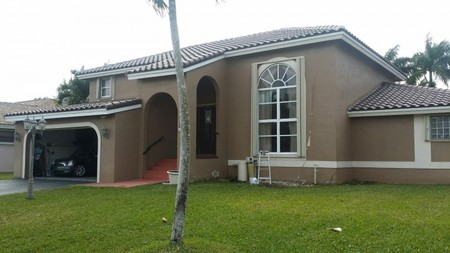 Repainting of family home in Davie Florida