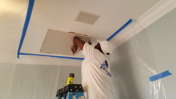Ceiling repair and painting