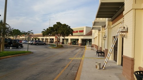 Exterior Painting of Plaza in Boynton Beach, Florida