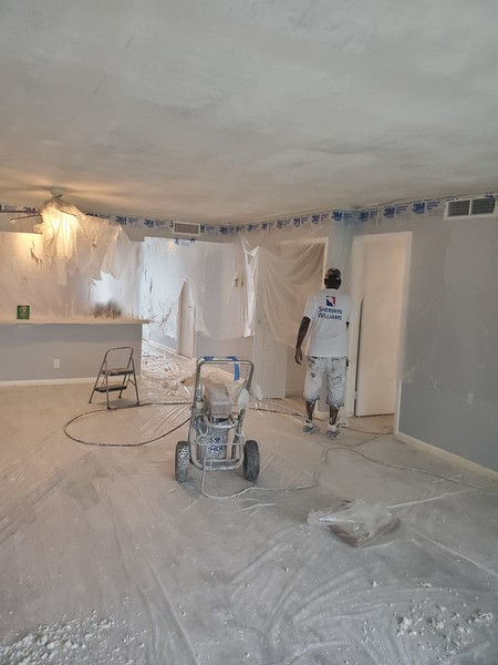 Popcorn Removal and Interior Painting in Copper City, FL (1)