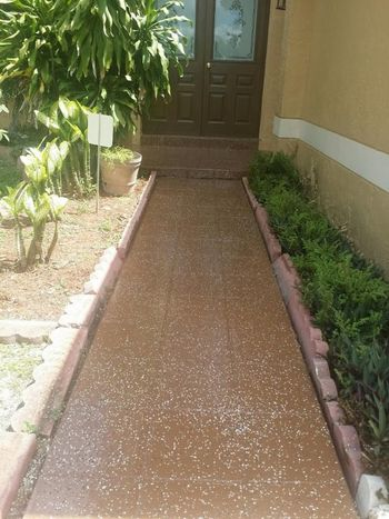 Epoxy Painting of Walkway in Hollywood, FL
