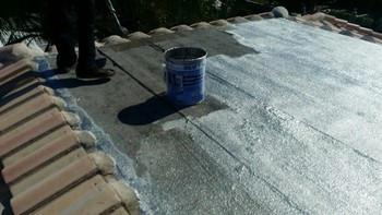 Cartoon knowledge, repairing and waterproofing damaged roof in Hollywood, FL