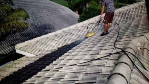 Cleaning of roof in Wellington Florida