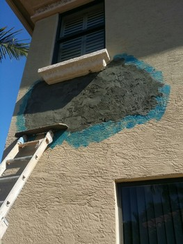 Demolition and repairing of damaged wall in Boca Raton, FL