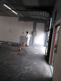 Interior Repainting of Warehouse Floors and Walls in Palm Beach Florida (1)