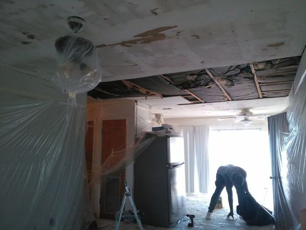 Interior Remodeling, Popcorn Ceiling Removal & Sheetrock Replacement in Margate, FL (1)
