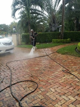 Pressure cleaning and sealing of Deck in Coconut Creek, Florida