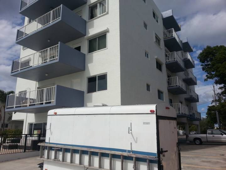 Exterior Painting of a mid rise apartment complex in Miami Beach, FL