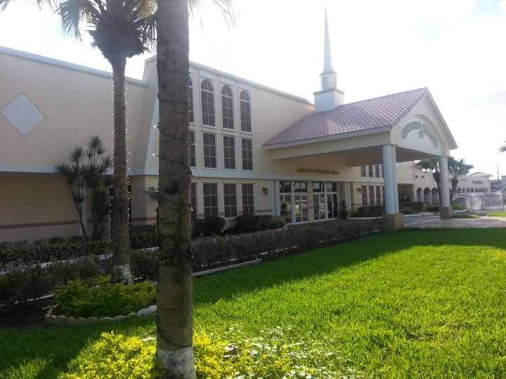 Exterior Commercial Painting of a church in Miami, FL